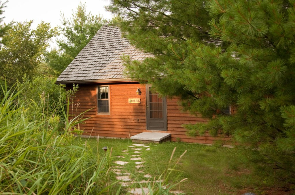 Hemlock Cabin Front - Door County Cabin