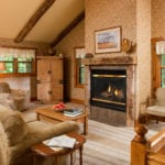 Oak Cottage Fireplace - Door County Rental