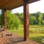 Tamarack Cabin Porch - Door County Log Cabin