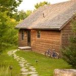 Tamarack Cabin Front - Door County Log Cabin