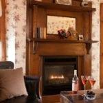 Granary Room Fireplace - Door County Motel