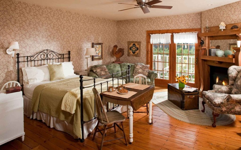 Sunflower Suite bedroom at Chanticleer Guest House - Door County Lodging