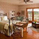 Sunflower Suite bedroom at Chanticleer Guest House - Door County Lodging